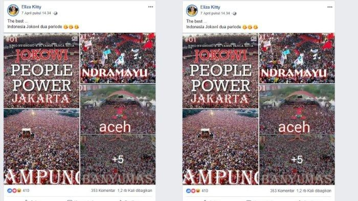 Postingan pendukung Jokowi yang Viral