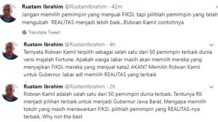Postingan Rustam Ibrahim