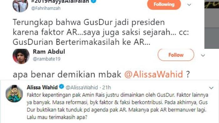 Postingan soal Gus Dur dan AR