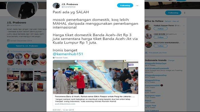 Postingan Suryo Prabowo