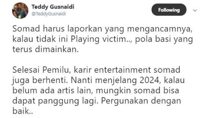 Postingan Teddy Gusnaidi