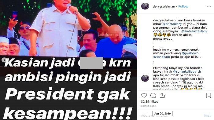 Postingan Ustaz Derry Sulaiman (Capture/Instagram)