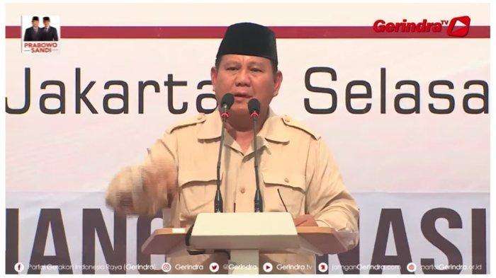Calon Presiden 02, Prabowo Subianto mengungkapkan bahwa dirinya akan membuat surat wasiatnya, Selasa (14/5/2019).