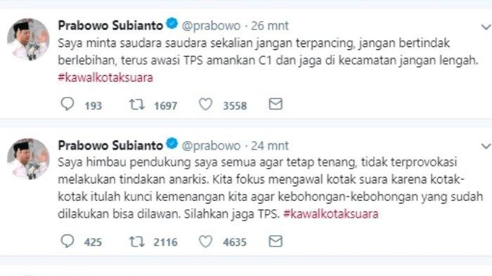 Kritik keras Prabowo soal Pemilu 2019, Rabu (17//4/2019).