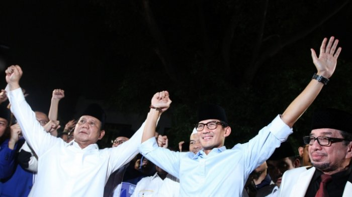 Hasil Survei Pilpres 2019 Elektabilitas Prabowo-Sandi Naik, 3 Faktor Penyebabnya, Aktif dan Militan