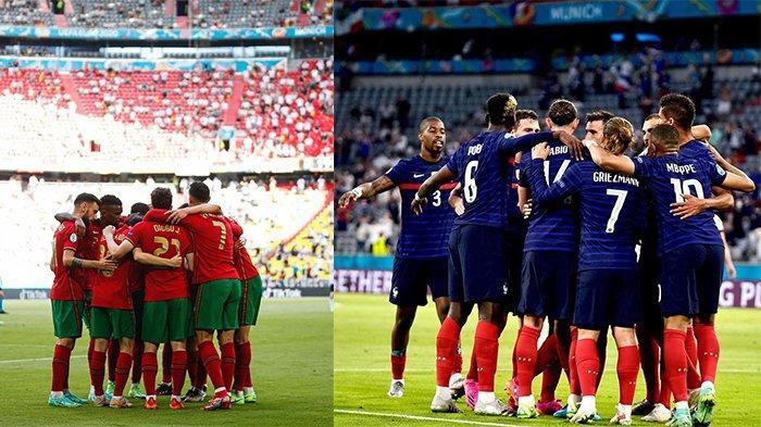 Portugal Vs Prancis pada matchday ketiga grup F Euro 2020 pada 23 Juni 2021.