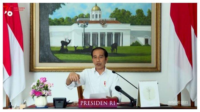 Presiden Joko Widodo (Jokowi) saat memberikan pengarahan kepada Kepala Daerah seluruh Indonesia, Senin (19/7/2021).