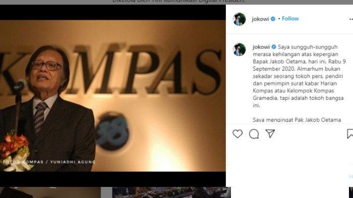 Pendiri Kompas Gramedia Jakob Oetama Meninggal, Jokowi sampai Sujiwo Tejo Sampaikan Duka: Utang Rasa