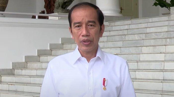 Presiden Joko Widodo (Jokowi) saat memberi arahan tanggap darurat terkait gempa bumi di Malang, Surabaya, dan wilayah Jawa Timur lainnya, Minggu (11/4/2021).
