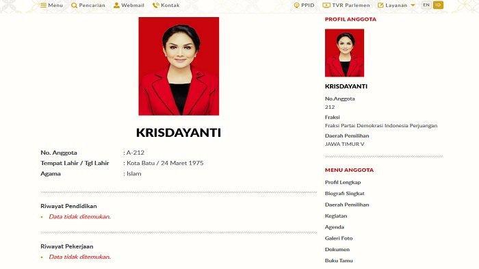 Profil Krisdayanti di laman DPR