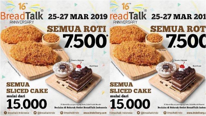 Jadwal Promo BreadTalk Cuma Rp 7500 untuk Semua Roti, Cek Syarat dan Ketentuannya!
