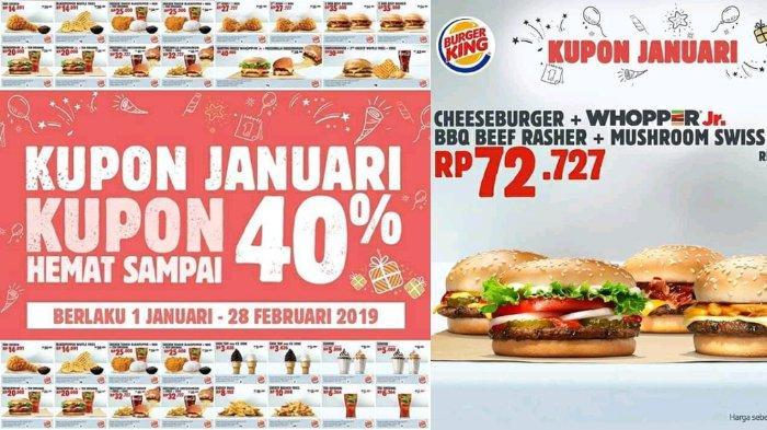 Mantap! Sambut Tahun 2019, Burger King Bagikan Banyak Promo Menarik Sepanjang Bulan Januari-Februari