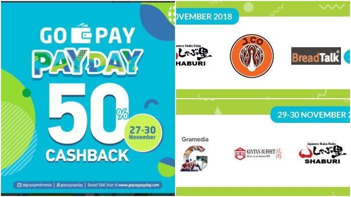 Lagi, Go-Pay Berikan Cashback 50% 29 November Giliran Gramedia, J.CO, dan BreadTalk, Ini Syaratnya
