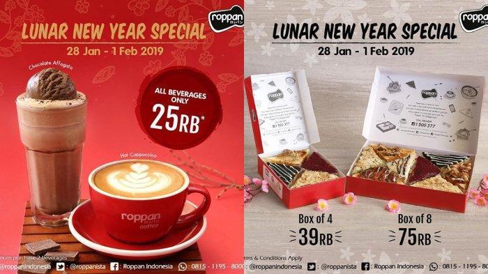 Promo Roppan Tanggal 28 Januari -1 Februari 2019, Diskon T-Pan hingga Semua Jenis Minuman
