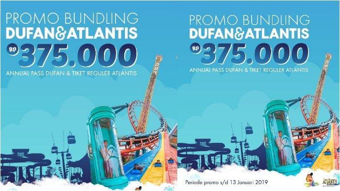 Promo Tiket Annual Pass Dufan dan Tiket Atlantis Cuma Rp 375 Ribu untuk Tahun Baruan!