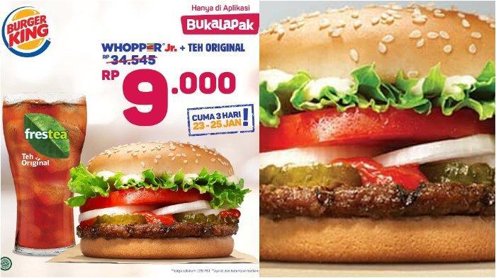 Promo Burger King Whopper Jr. Harga Rp 9 Ribu! Khusus 23-25 Januari 2019, Ini Syaratnya