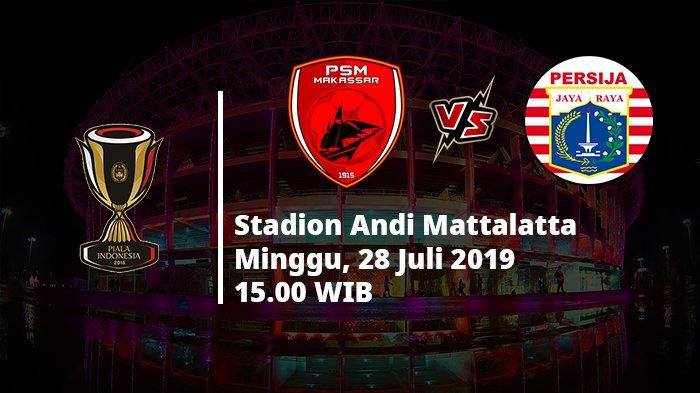 VIDEO Live Streaming TV Online RCTI PSM Makassar Vs Persija Jakarta Final Piala Indonesia
