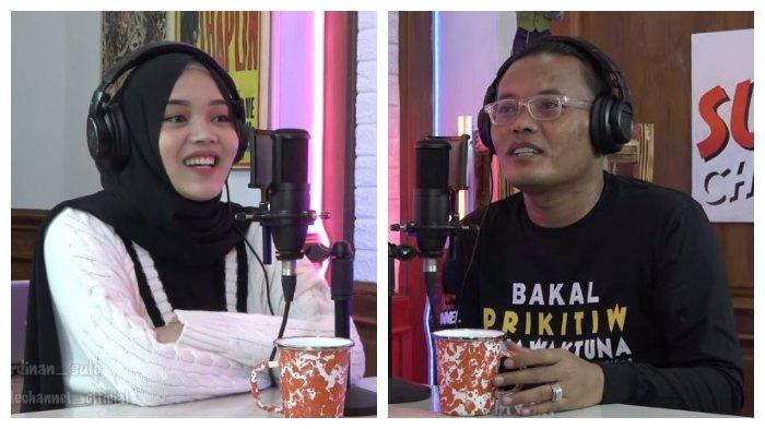 Putri Delina (kiri) dan sang ayah, Sule, saat tampil bersama dalam Sule Podcast (SULPOD), Jumat (5/2/2021).