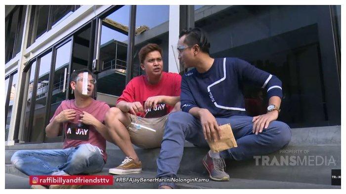 Raffi Ahmad, Billy Syahputra dan Lutfi Agizal dalam tayangan YouTube Trans TV, Senin (21/9/2020).