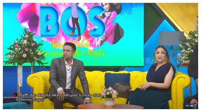 Raffi Ahmad dan Nagita Slavina dicecar Denny Cagur di acar Okay Bos, Selasa (20/10/2020).