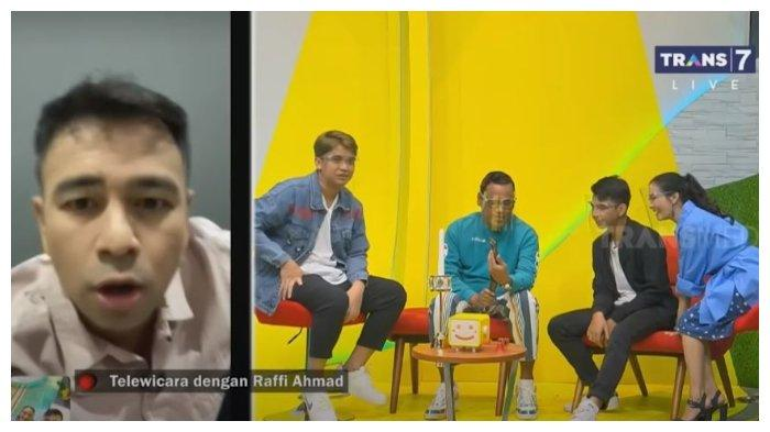Raffi Ahmad, Billy Syahputra, Dimas, Uya Kuya, dan Iis Dahlia di Bukan Bisk Bisik, Senin (30/11/2020).