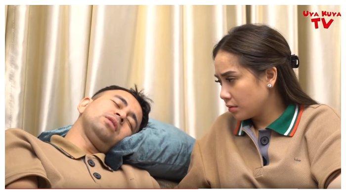 Raffi Ahmad dan Nagita Slavina dalam tayangan YouTube Uya Kuya TV, Sabtu (8/8/2020). Raffi Ahmad mengakui pernah diam-diam memasukkan teman wanita di dalam rumah.