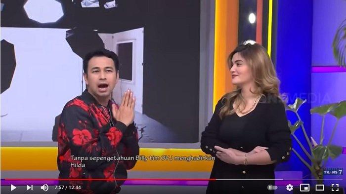 Presenter Raffi Ahmad merasa bersalah telah menyinggung mantan kekasih artis Billy Syahputra, yakni Hilda Vitria.