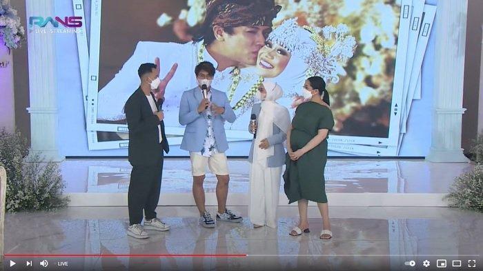 Raffi Ahmad, Rizky Billar, Lesti Kejora, dan Nagita Slavina di tayangan langsung Rans Entertaiment.