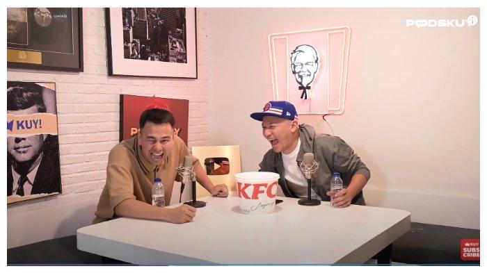 Raffi Ahmad saat melakukan podcast bersama Gading Marten dalam tayangan Youtube KUY Entertainment, Senin (3/7/2020).