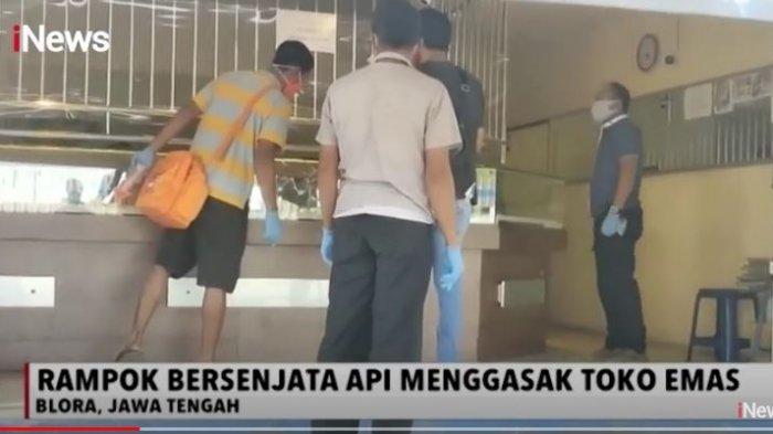 Rampok Toko Emas di Blora, 2 Pelaku Bersenjata Api Todong Penjaga Toko Sambil Lontarkan Ancaman