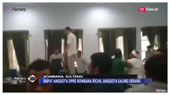 Viral Anggota DPRD Bombana Saling Serang saat Rapat, Ini Video Detik-detik Terjadinya Kericuhan