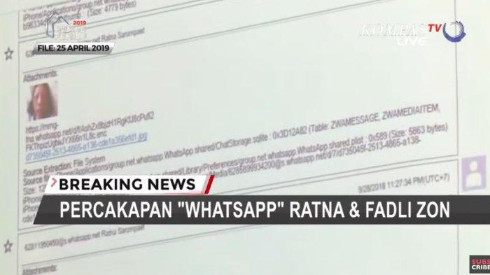 Saksi ahli bongkar isi percakapan Ratna Sarumpaet dengan Fadli Zon, Selasa (7/5/2019).