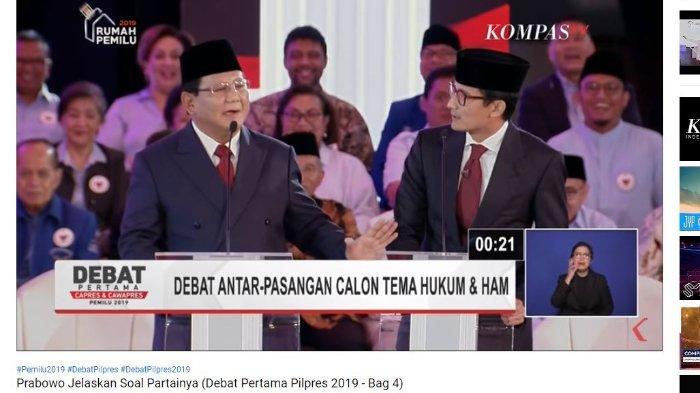 Reaksi Cepat Prabowo saat Sandiaga Minta Diangkat Lagi ke Gerindra di Tengah Debat: Enggak, Jangan