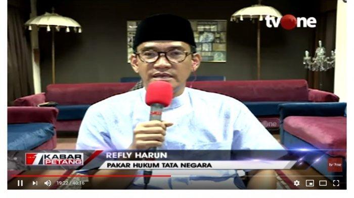 Pakar Hukum Tata Negara Refly Harun menyinggung soal  jabatan Ma'ruf Amin yang diklaim BPN bisa membuat 01 didiskualifikasi