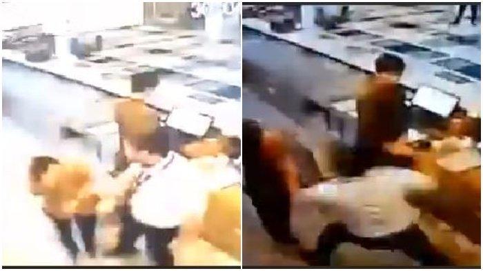 Viral di Facebook Video Detik-detik Rekaman CCTV Pilot Maskapai Aniaya Pegawai Hotel karena Masalah Baju
