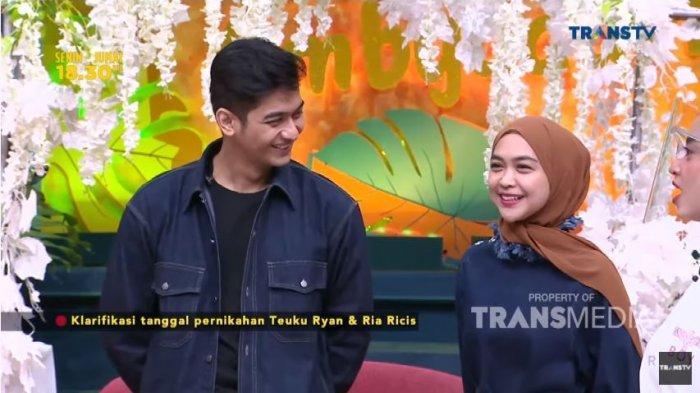 Ria Ricis dan Teuku Ryan dalam tayangan Pagi Pagi Ambyar Trans TV, Senin (27/9/2021).
