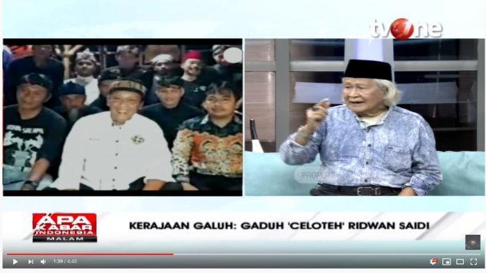 Debat Babe Ridwan Saidi dengan Yat Rospia Brata soal Kerajaan Galuh: Kalau Minta Ongkos, Kami Siap