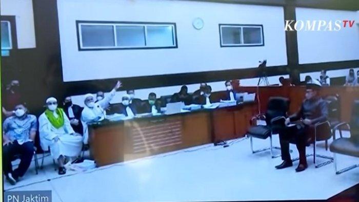 Rizieq Shihab Bentak-bentak JPU Tak Terima Ucapan Dipotong, Hakim sampai Tak Bisa Lerai: Sabar Sudah