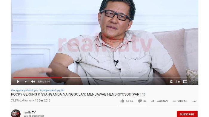 Rocky Gerung Ungkap Perkembangan Pelaporan soal Presiden Tak Paham Pancasila, Sempat Goda Presenter