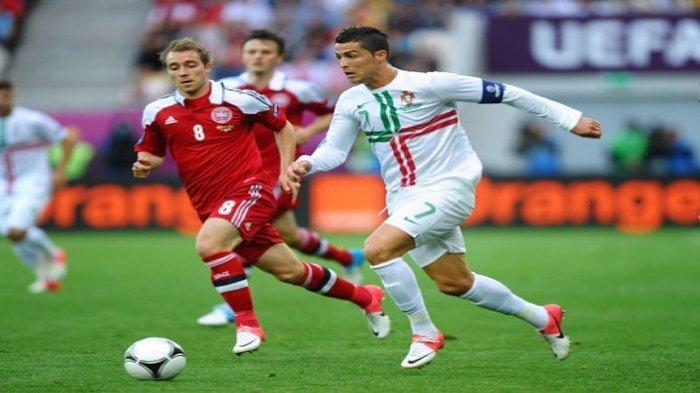 Euro 2020: Doa Cristiano Ronaldo untuk Eriksen: Saya Harap Bertemu Kamu Lagi di Lapangan, Tetap Kuat