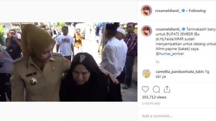 Unggahan Instagram Rosa Meldianti