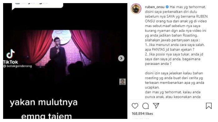 Ruben Onsu geram dengan aksi Komika Ridwan Remin