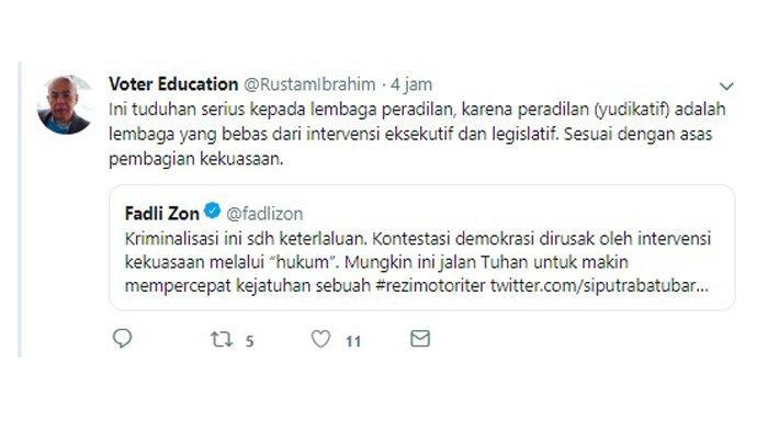 Rustam Ibrahim tanggapi kicauan Fadli Zon soal kasus yang menjerat Dahnil Anzar Simanjuntak.