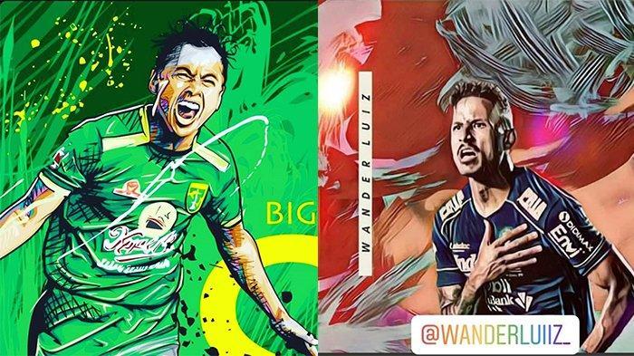 Persib Bandung Vs Persebaya Surabaya, Duel Mesin Gol Lokal Vs Asing Nomor Punggung 9, Siapa Unggul?
