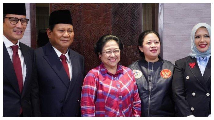 Kemersamaan Sandiaga dengan Prabowo Subianto, Megawati Soekarnoputri, Puan Maharani, Nur Asia Uno.