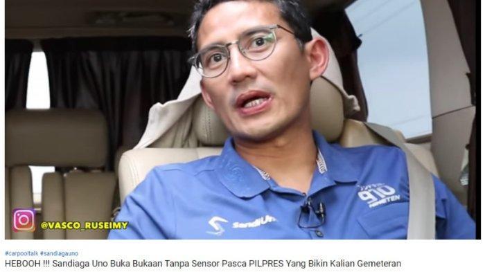 Ditanya Kegiatan setelah Pilpres 2019, Sandiaga Balik Tanya: Enggak Baperan Kan? Gue Aja Kalah Biasa