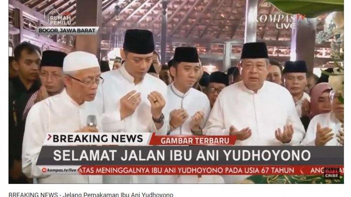 Doa bersama untuk jenazah Ani Yudhoyono