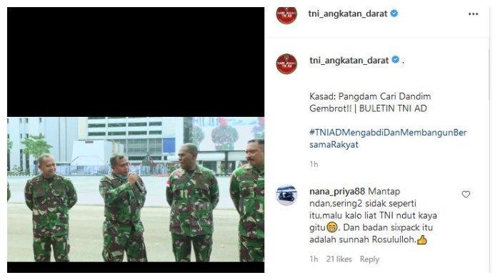 Sejumlah TNI AD yang dipanggil Kasad Andika Perkasa karena memiliki badan gemuk.