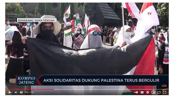 Dukungan Palestina Terus Mengalir di Beberapa Kota di Indonesia, Sempat Ada yang Berakhir Ricuh