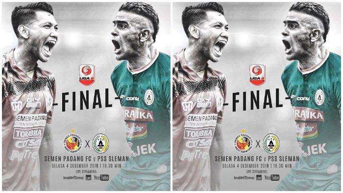 Link Live Streaming Final Liga 2 antara PSS Sleman vs Semen Padang, Pukul 18.30 WIB
